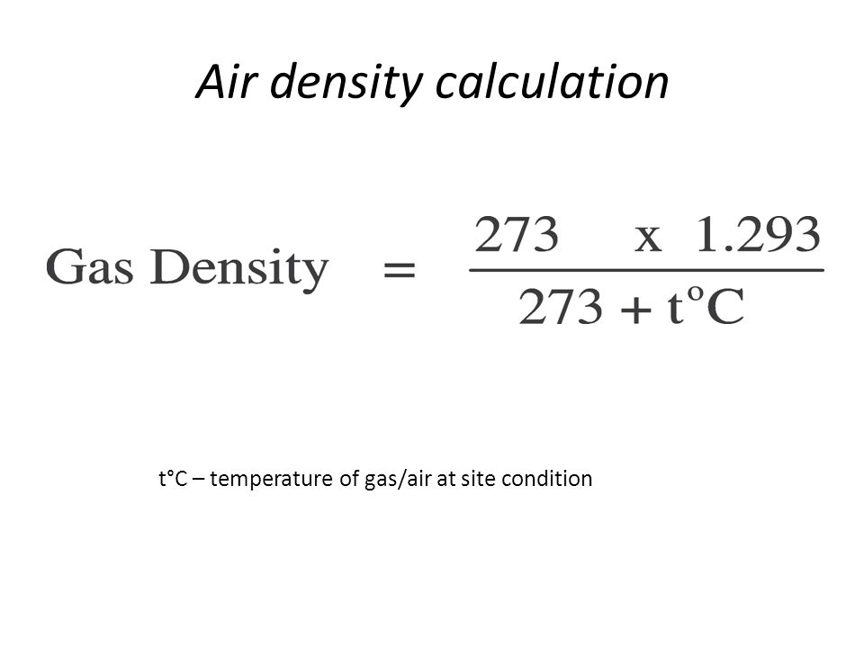 Air density calculation