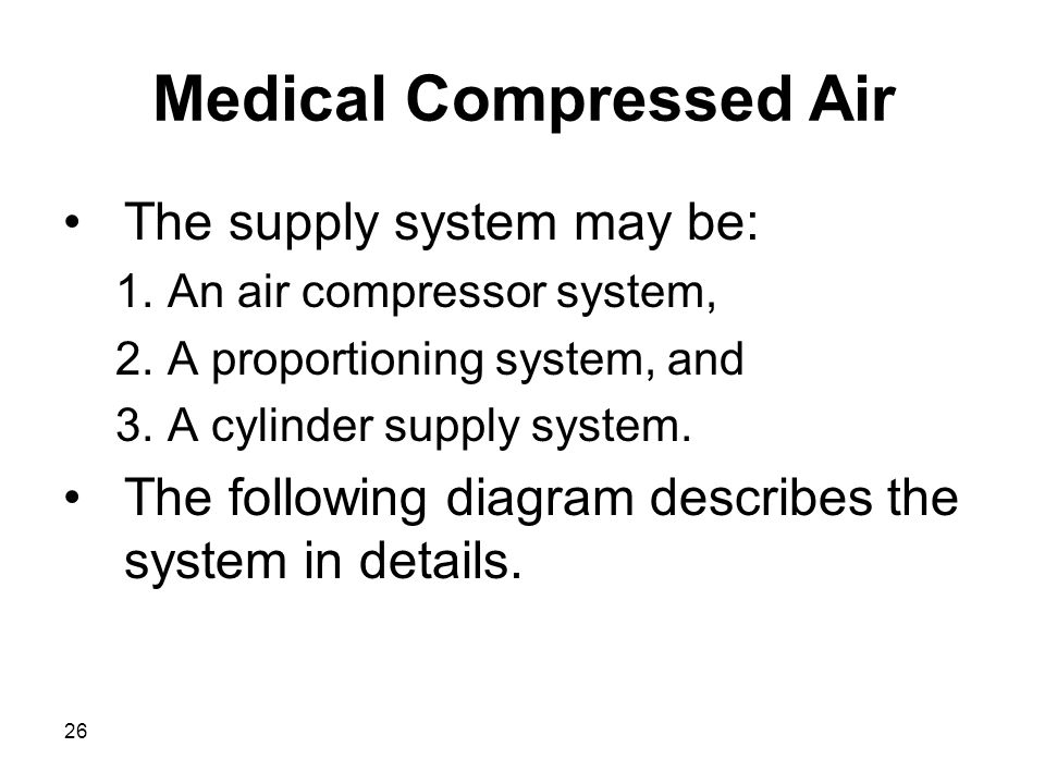 Medical Compressed Air