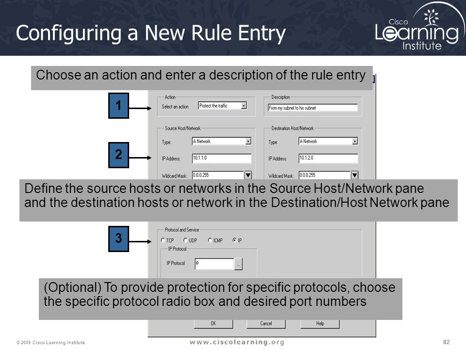 Configuring a New Rule Entry