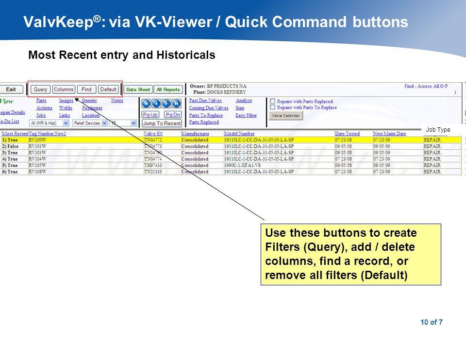 ValvKeep®: via VK-Viewer / Displaying Event Details