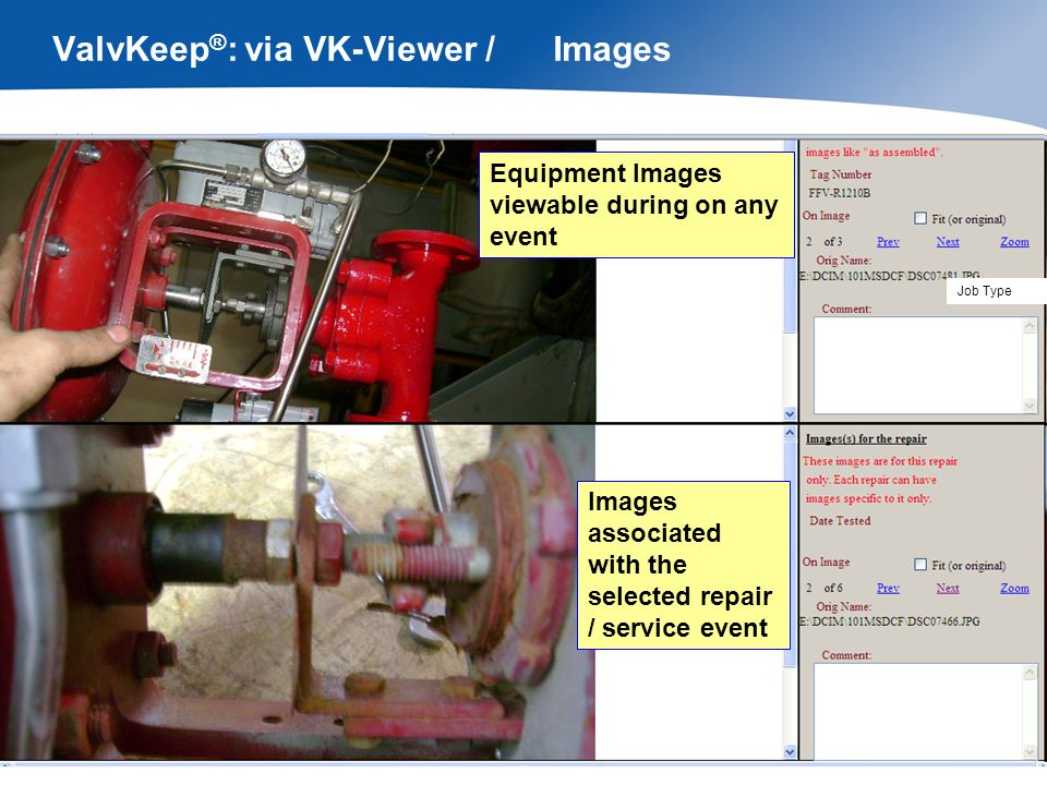 ValvKeep®: via VK-Viewer / Analytical Reports