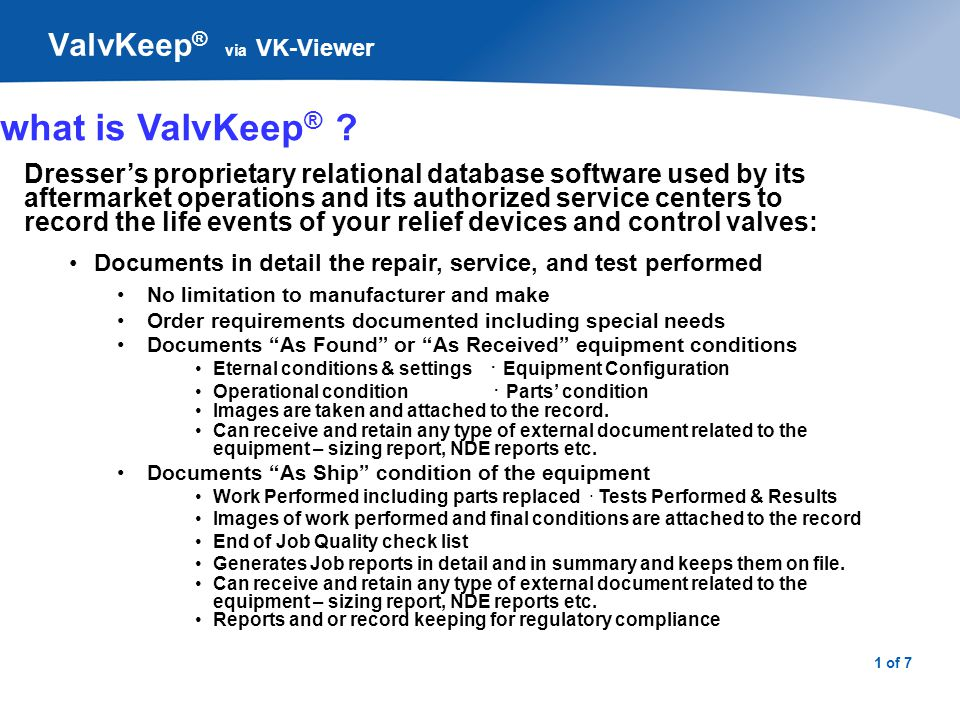 ValvKeep® via VK-Viewer