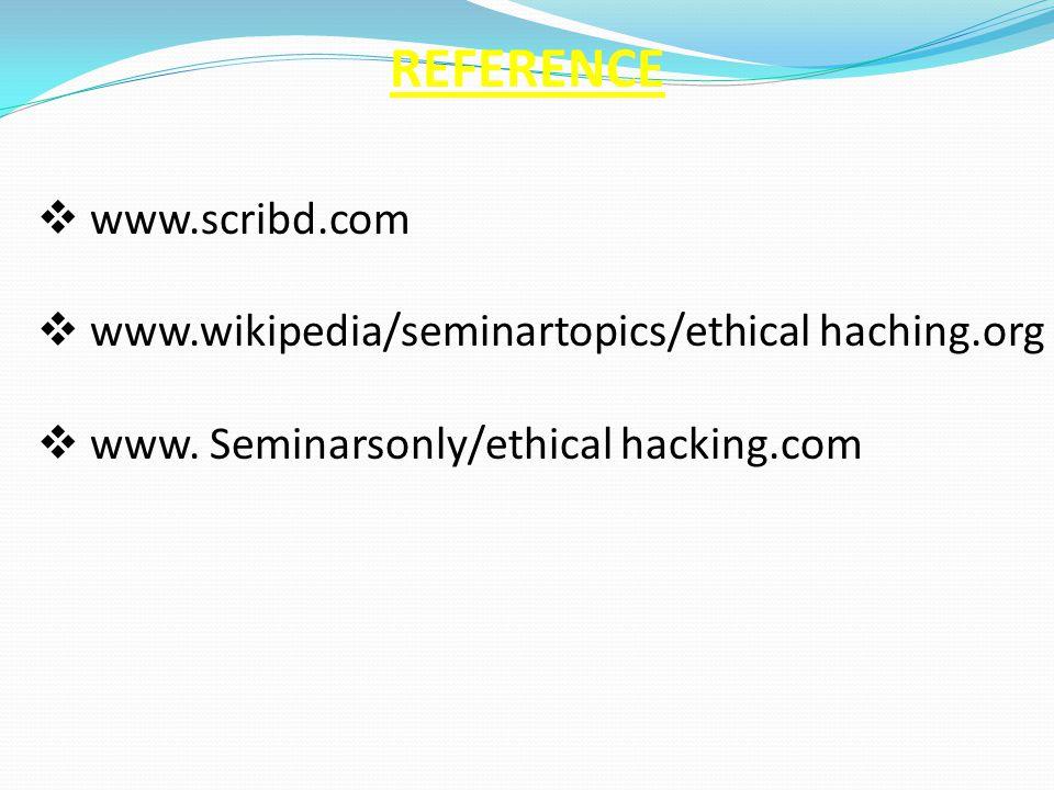 REFERENCE www.scribd.com