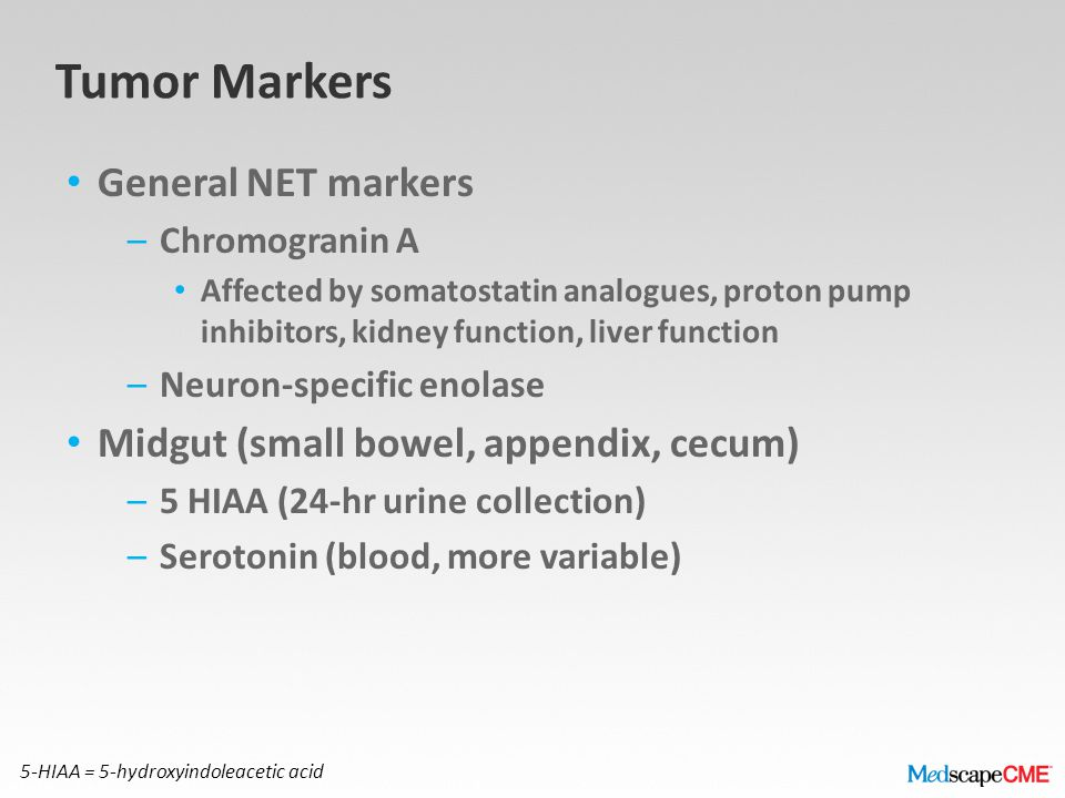 Tumor Markers General NET markers