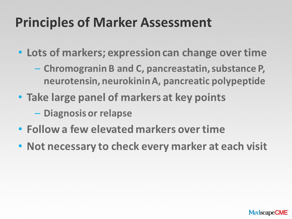 Principles of Marker Assessment