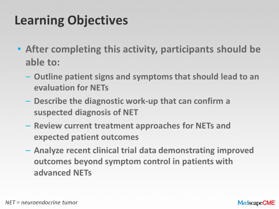 Learning Objectives After completing this activity, participants should be able to: