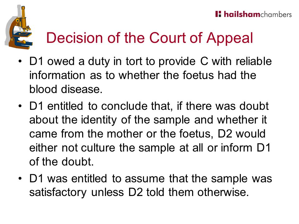 Decision of the Court of Appeal