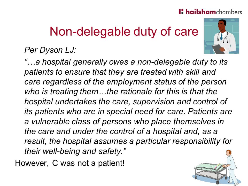 Non-delegable duty of care