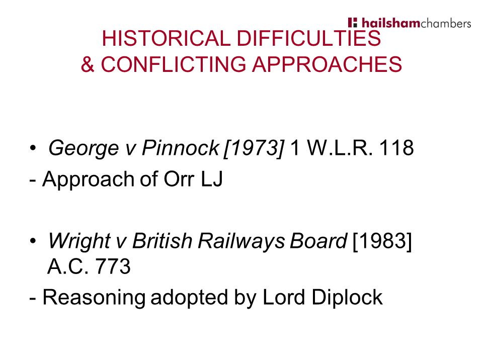 HISTORICAL DIFFICULTIES & CONFLICTING APPROACHES