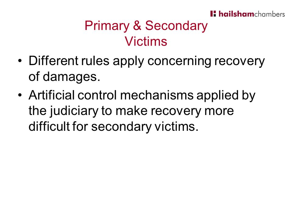 Primary & Secondary Victims