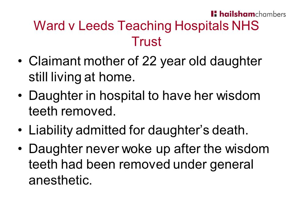 Ward v Leeds Teaching Hospitals NHS Trust