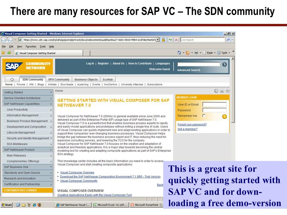 SAP VC – and the SAP Community Network