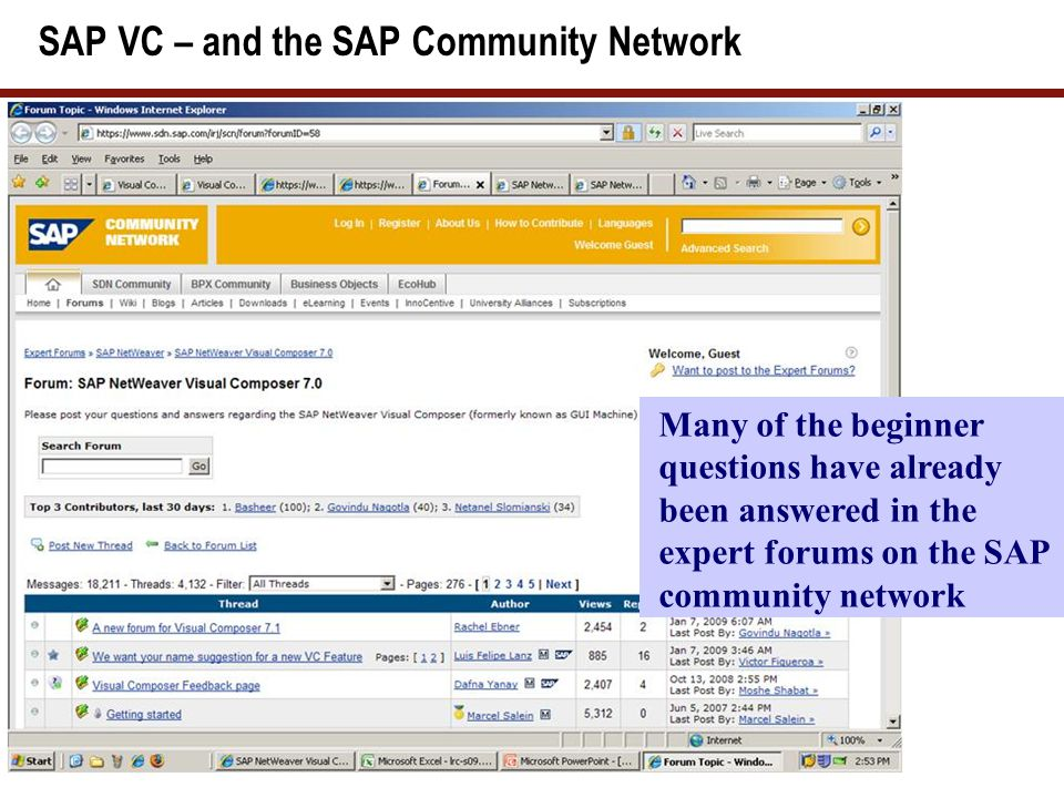 SAP VC – The SDN community Blogs