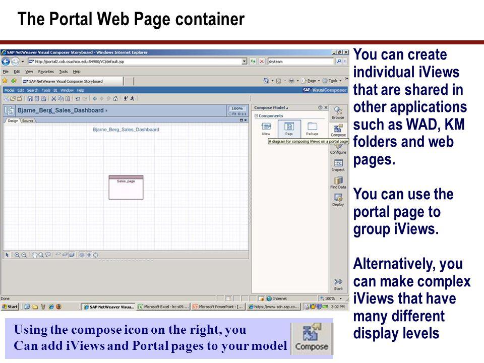 The SAP VC Configure Toolbar