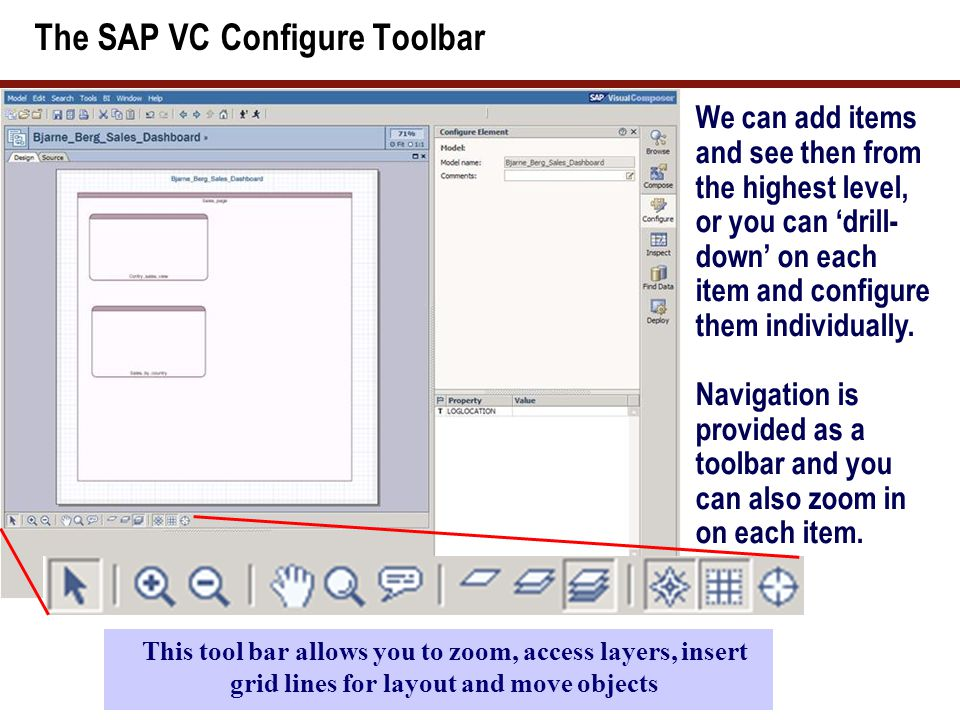 The magnifying glass SAP VC has many tools that power users can play with.