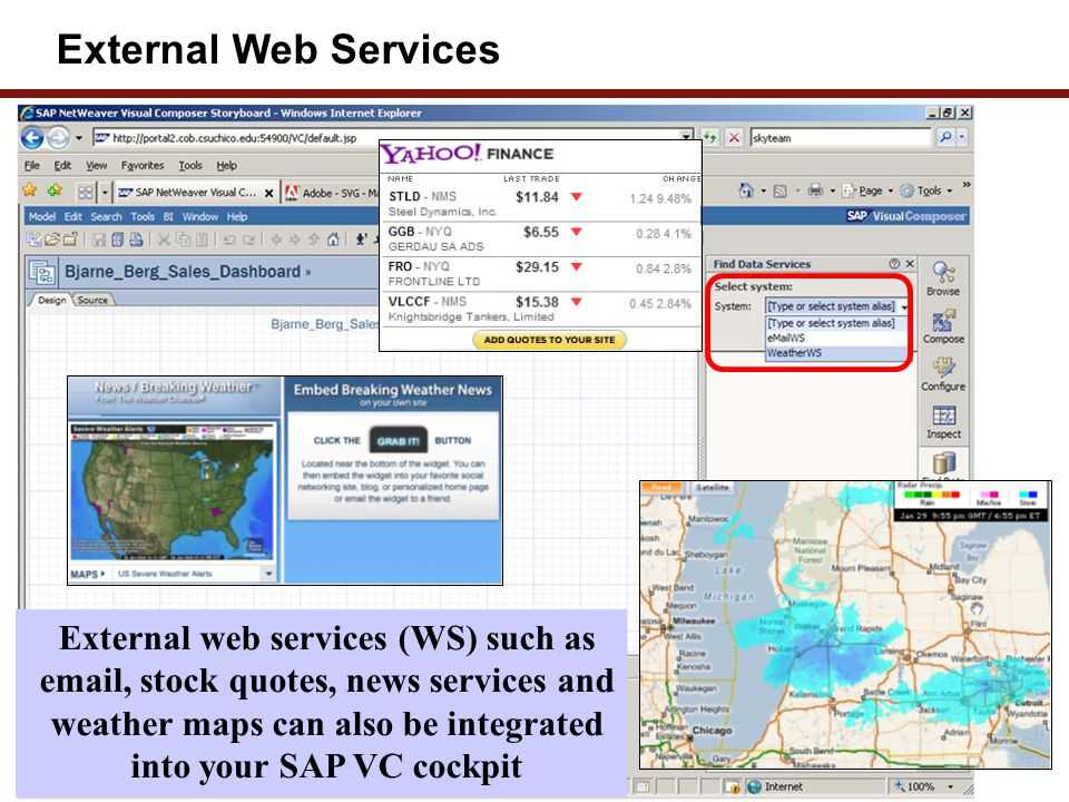 External Data Providers – web services