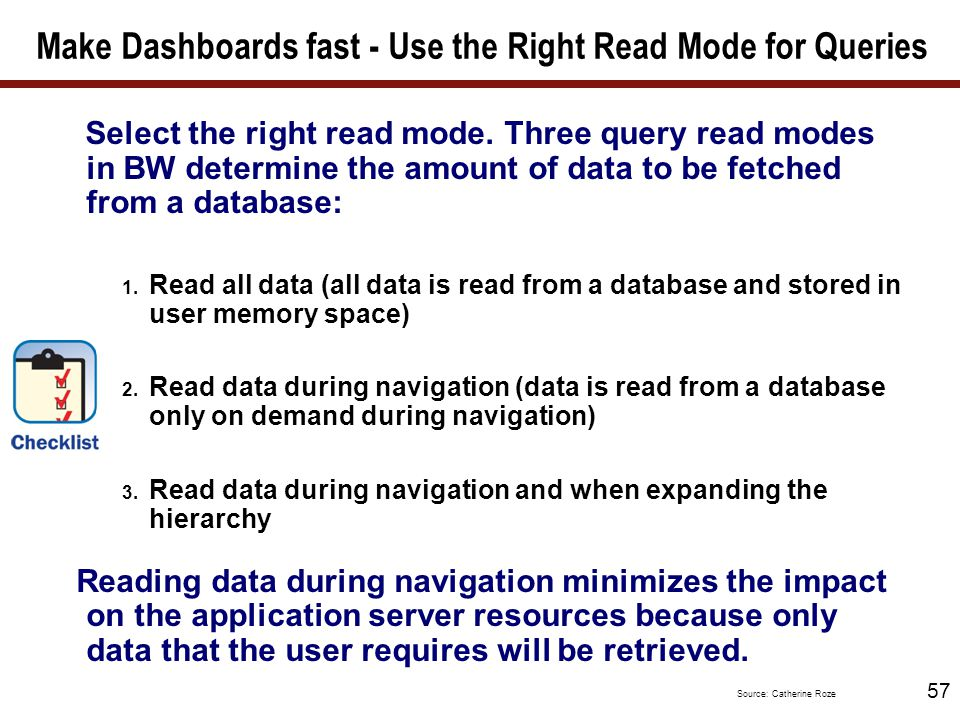Make Dashboards fast - Read mode for large hierarchies