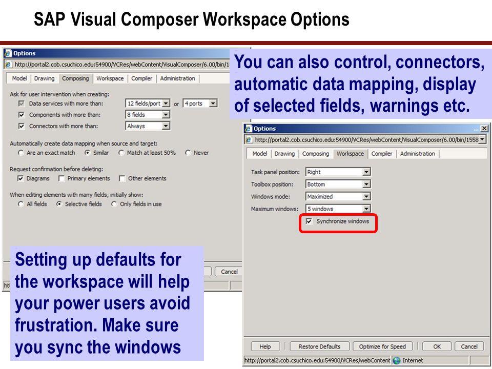 SAP Visual Composer Composing Options