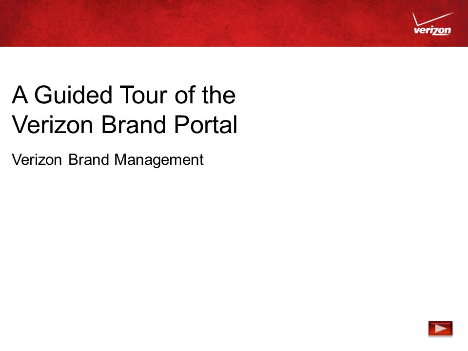 A Guided Tour of the Verizon Brand Portal