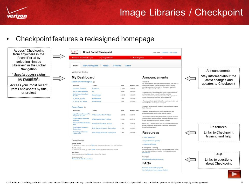 Image Libraries / Checkpoint