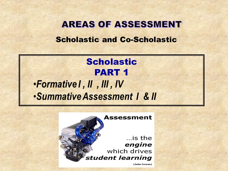 Summative Assessment I & II