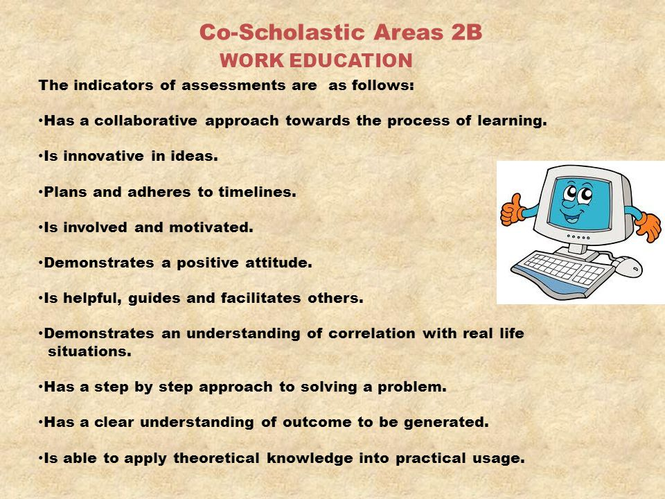 Co-Scholastic Areas 2B WORK EDUCATION