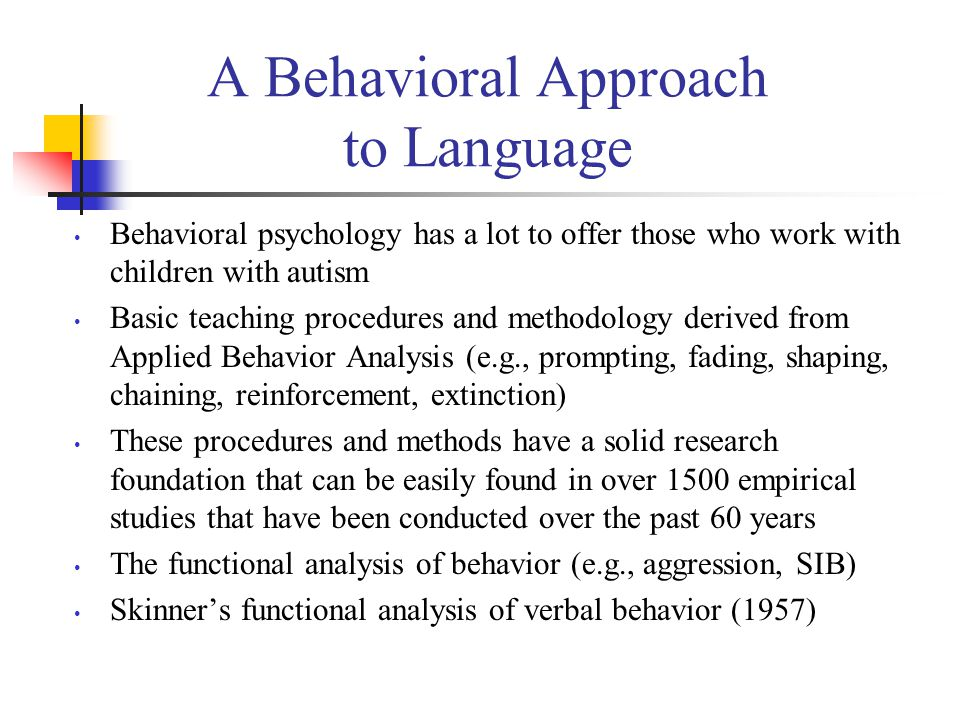 A Behavioral Approach to Language