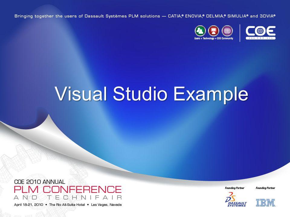 Visual Studio Example