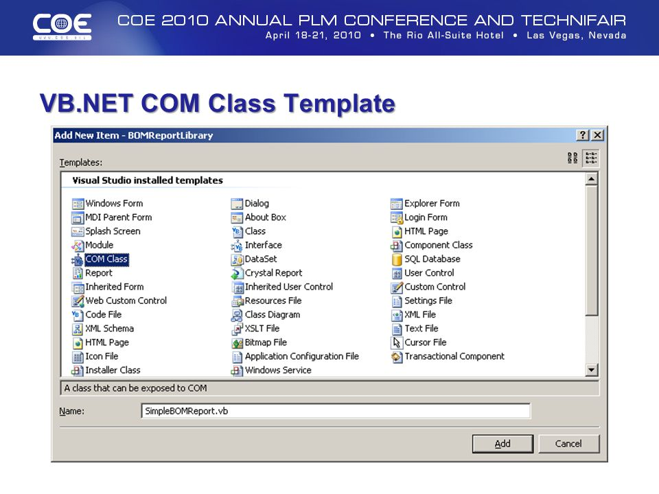 VB.NET COM Class Template