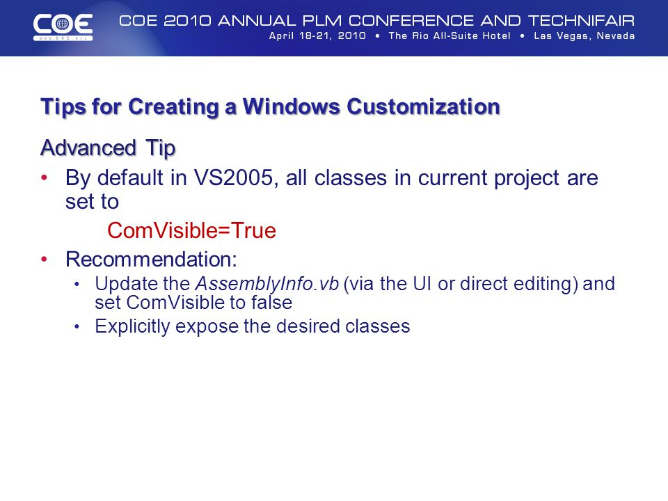 Tips for Creating a Windows Customization