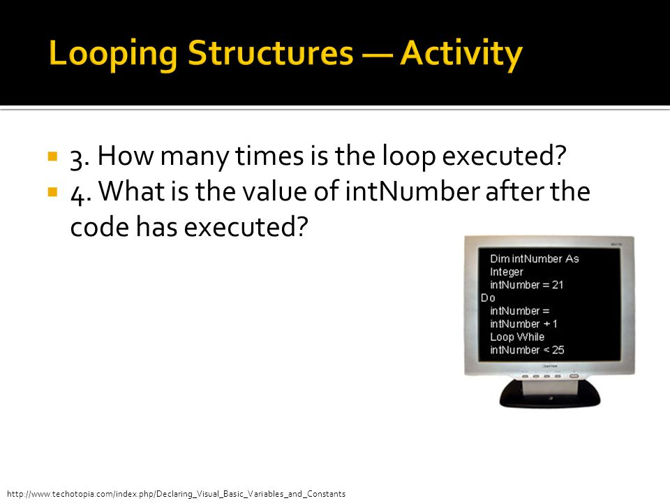 Looping Structures — Activity