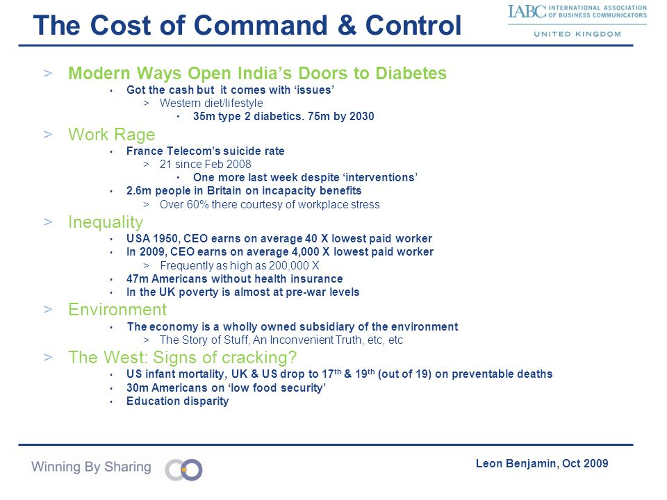 The Cost of Command & Control
