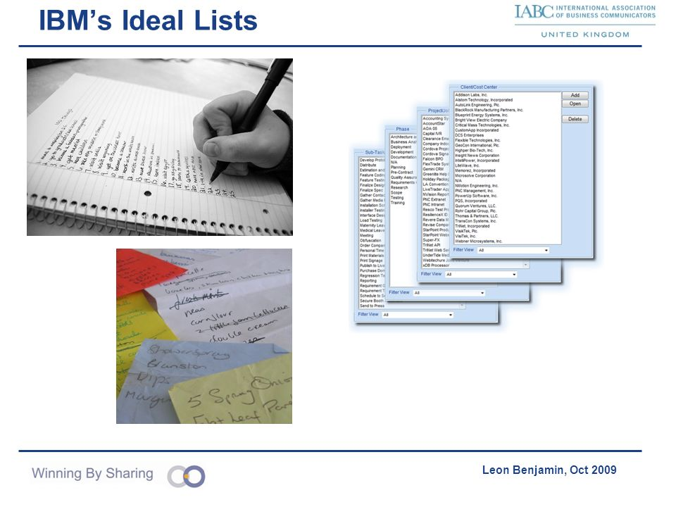 IBM's Ideal Lists