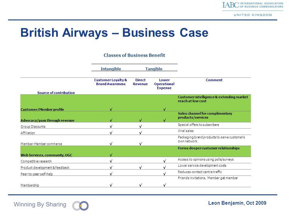 British Airways – Business Case