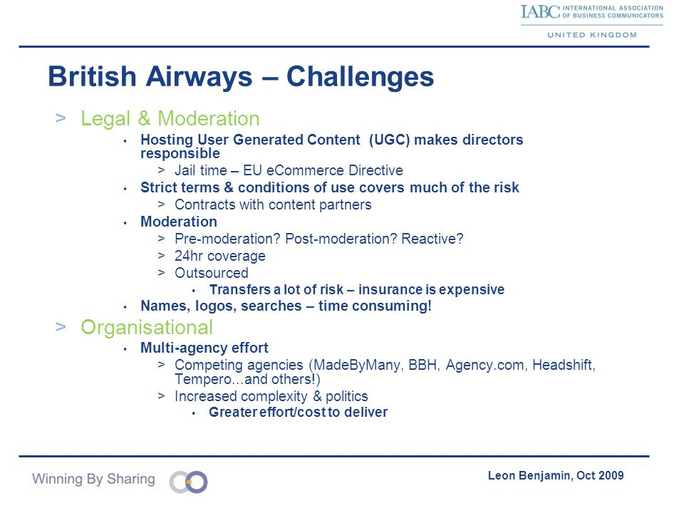 British Airways – Challenges