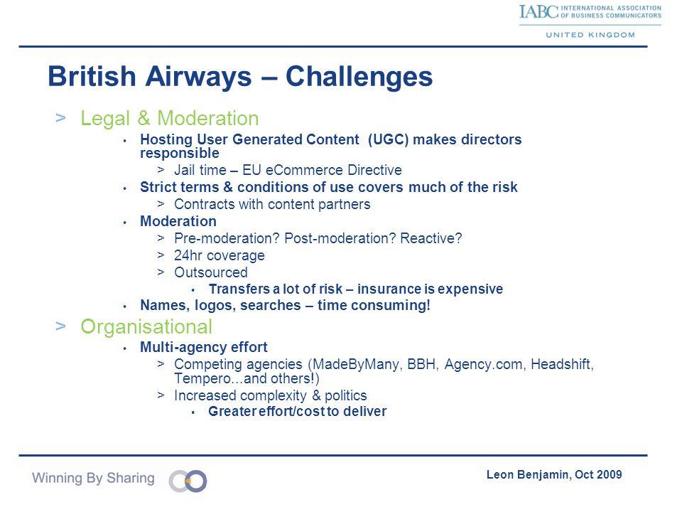 British Airways – Challenges