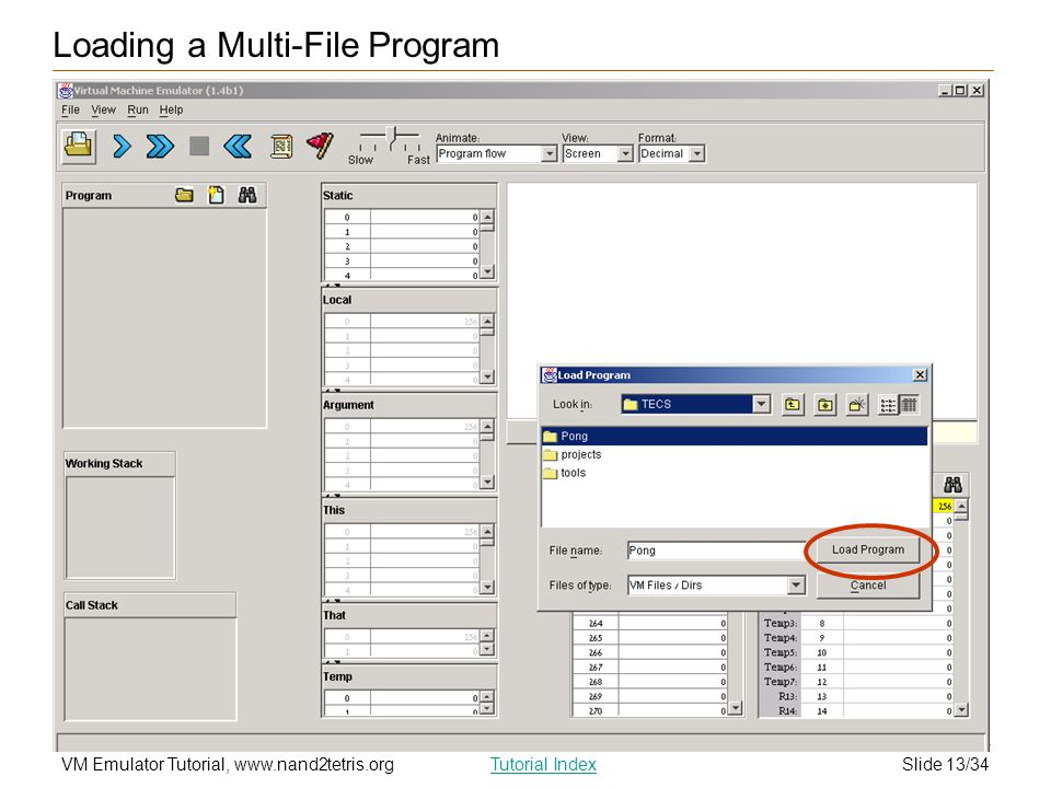 Loading a Multi-File Program