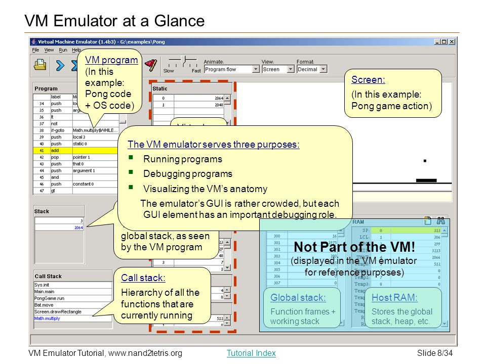 VM Emulator at a Glance Not Part of the VM!