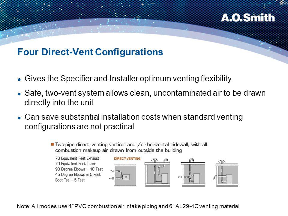 Four Direct-Vent Configurations