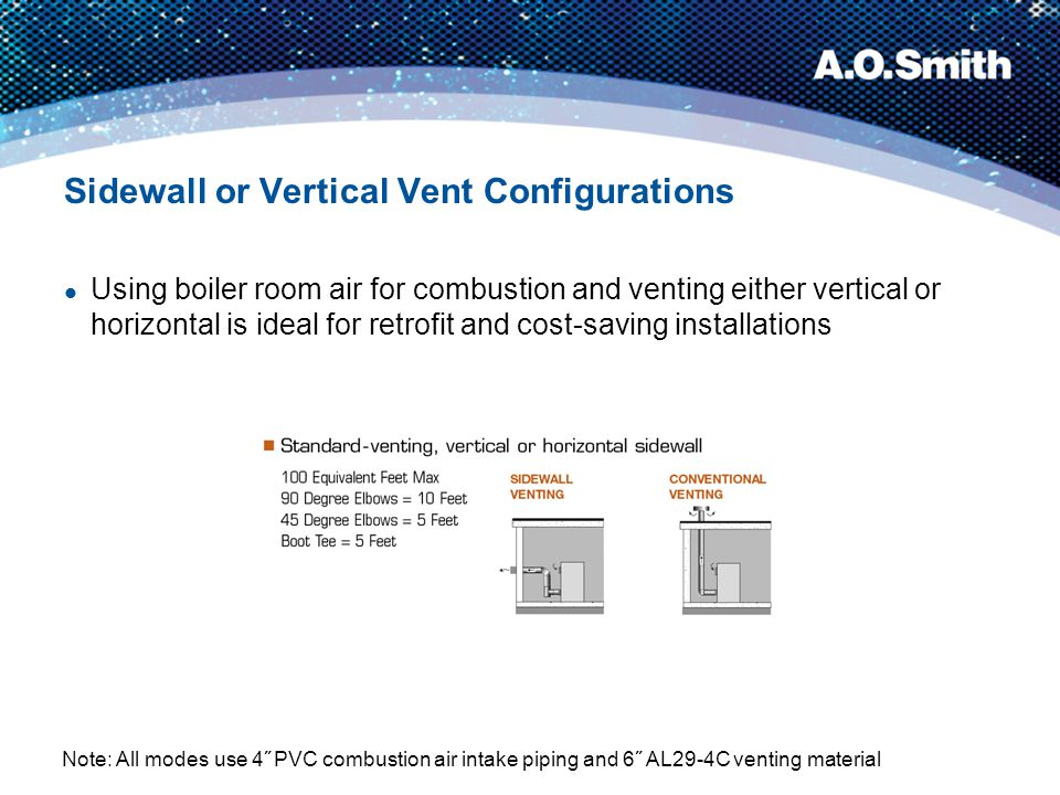 Sidewall or Vertical Vent Configurations