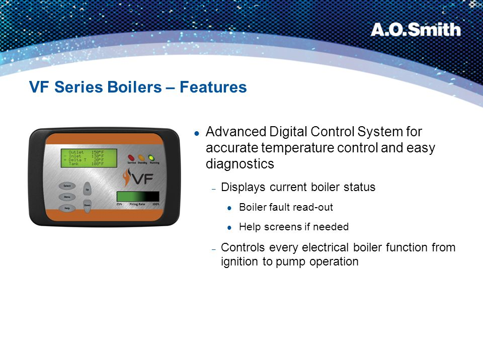 VF Series Boilers – Features