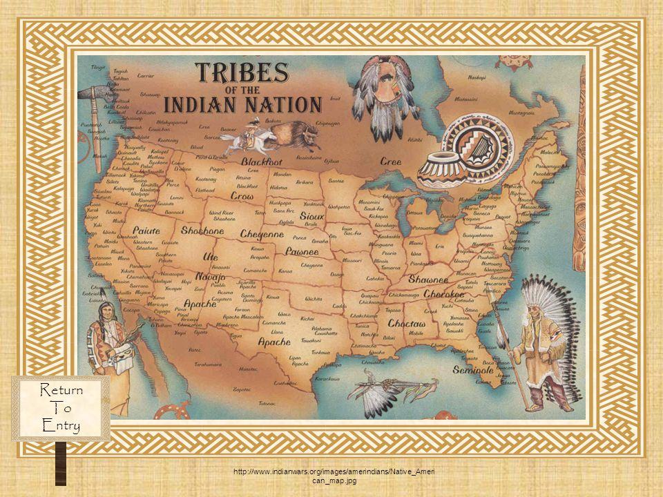 Return To Entry http://www.indianwars.org/images/amerindians/Native_American_map.jpg
