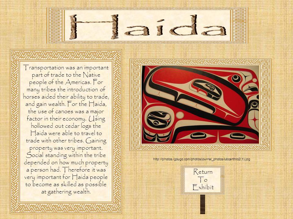 Haida Return To Exhibit