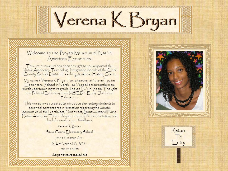 Verena K Bryan Return To Entry