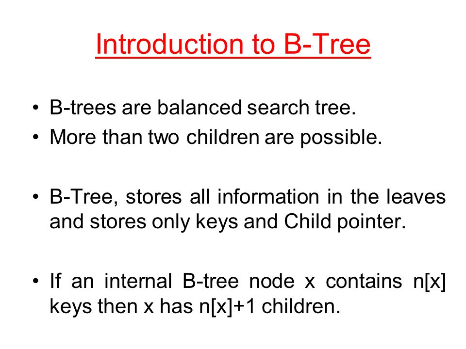 Introduction to B-Tree