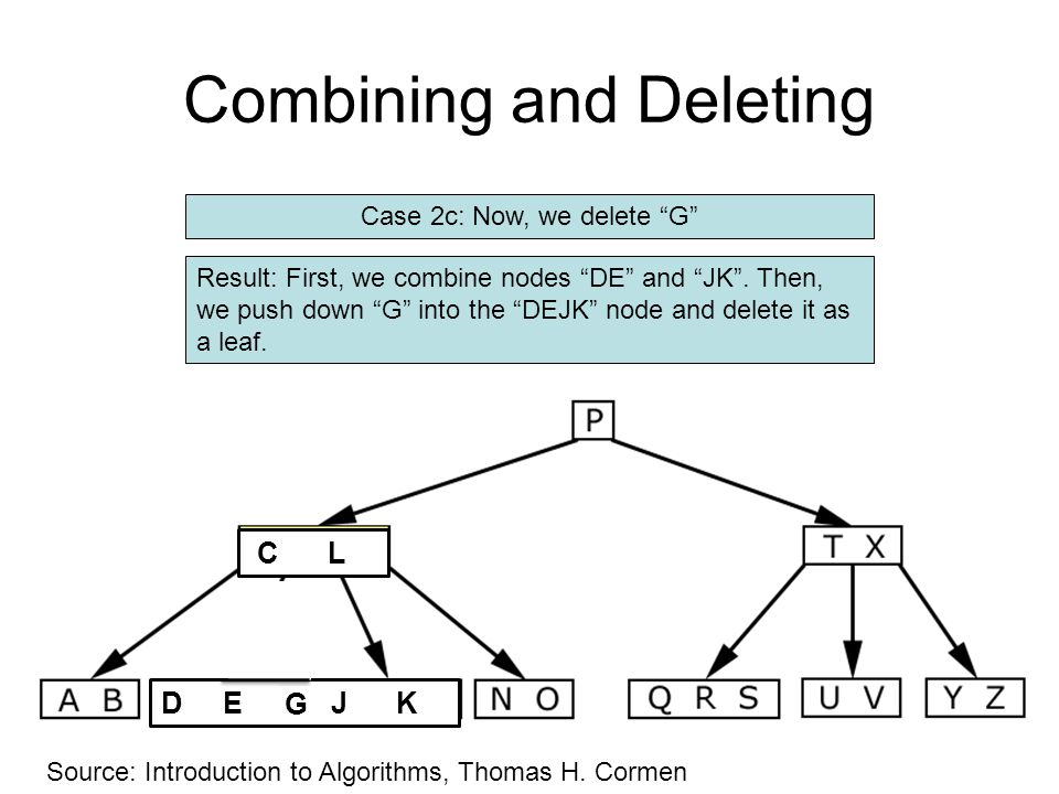 Combining and Deleting