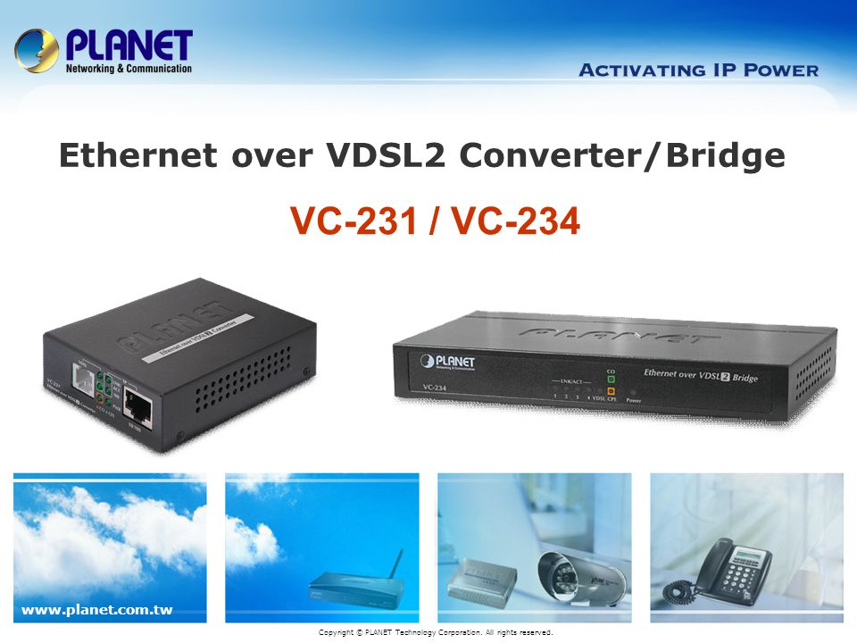 Ethernet over VDSL2 Converter/Bridge