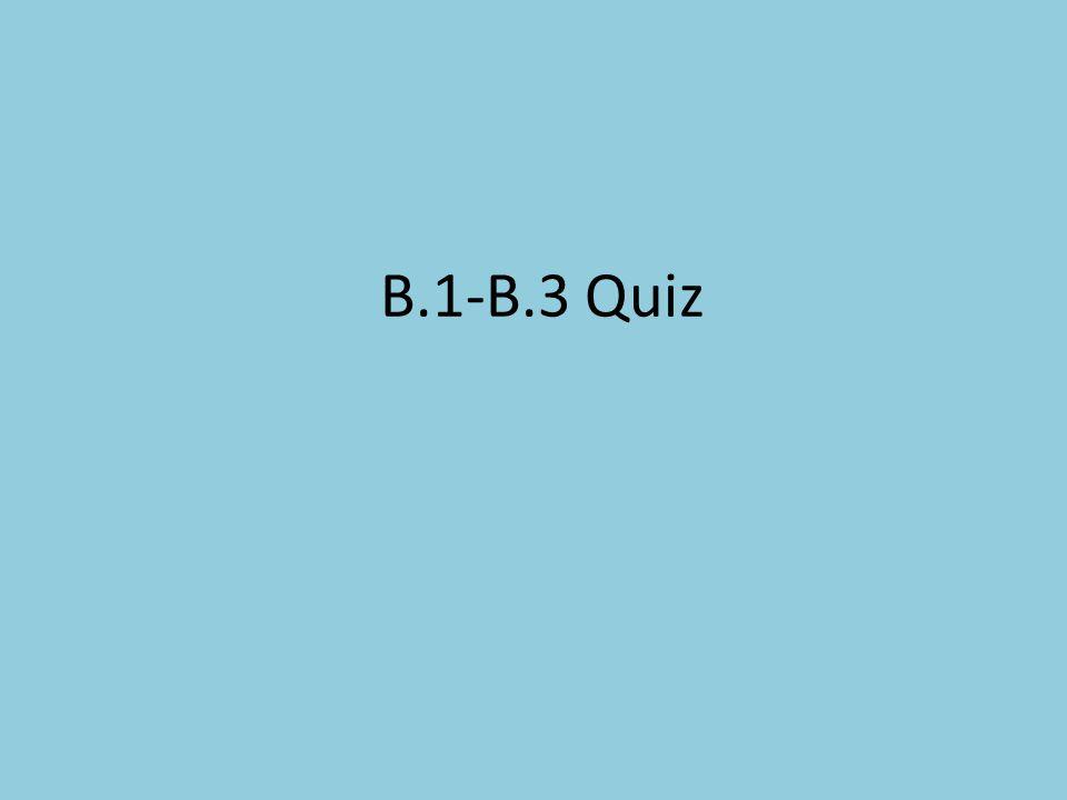 B.1-B.3 Quiz