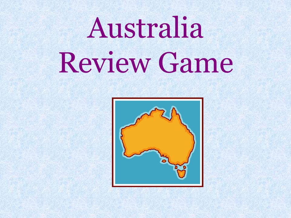 Australia Review Game