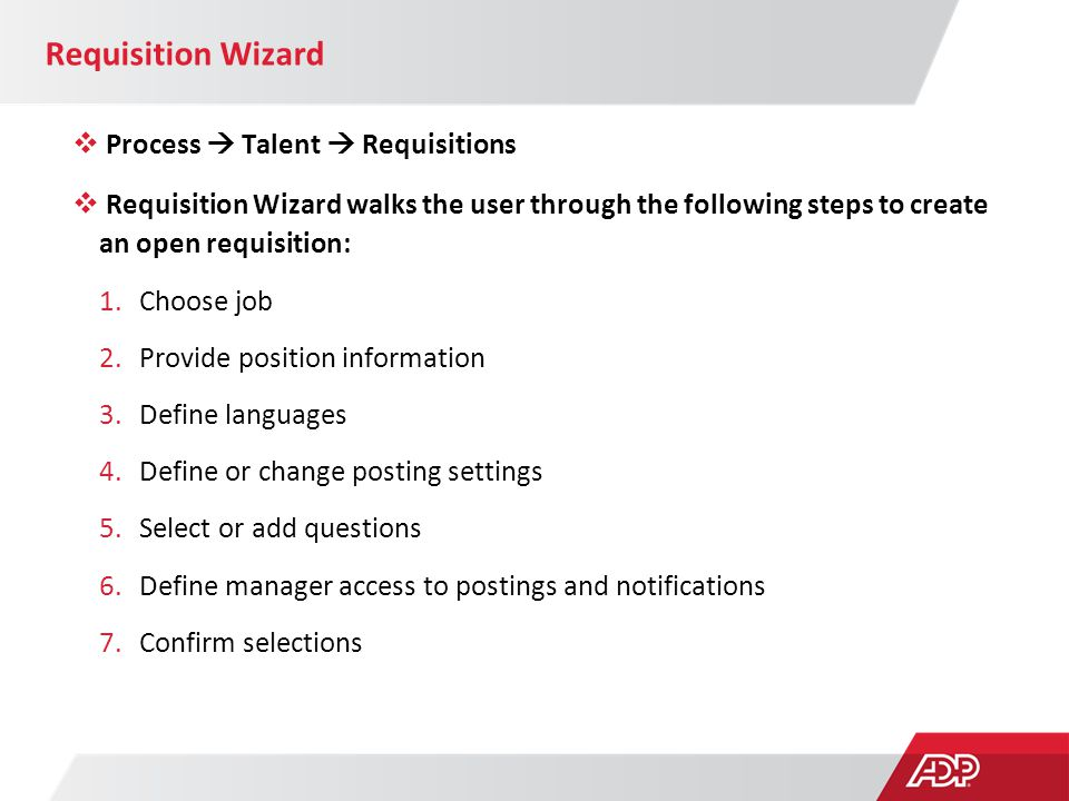 Requisition Wizard Process  Talent  Requisitions